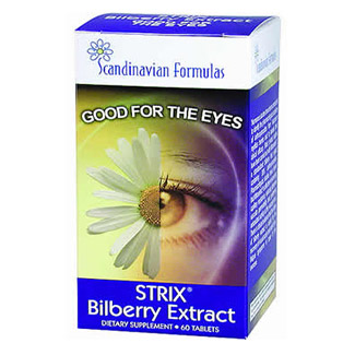 Strix Bilberry Extract 500mg 60 tabs, Scandinavian Formulas