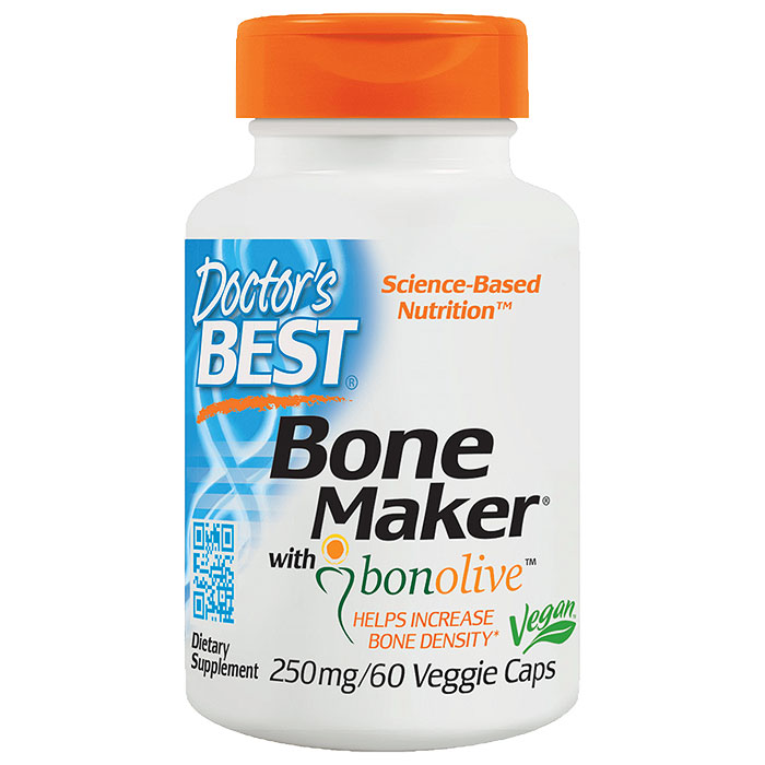 Bone Maker with Bonolive 250 mg, 60 Veggie Capsules, Doctors Best