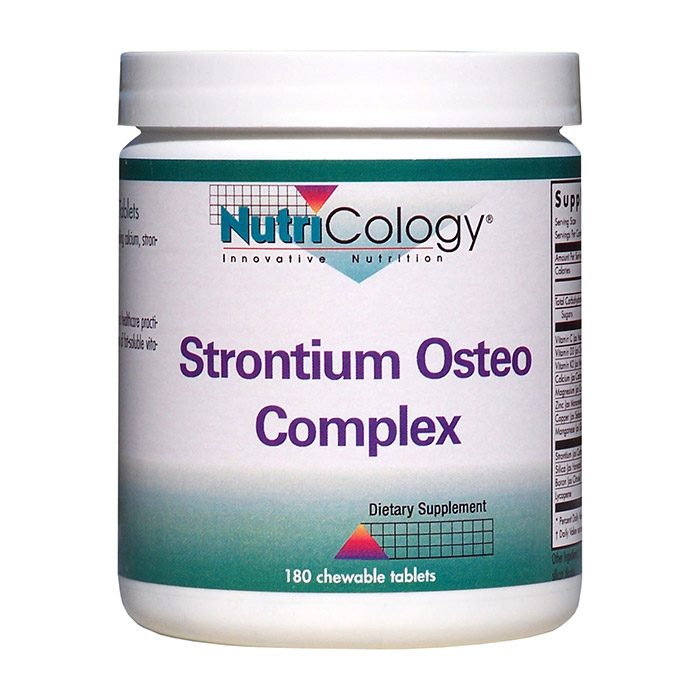 Strontium Osteo Complex Chewable, 180 Tablets, NutriCology