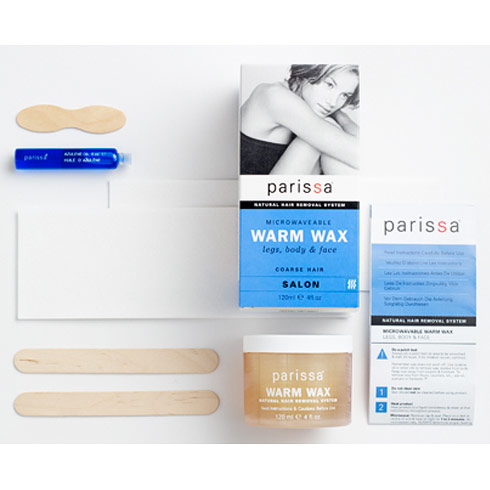 Microwaveable Warm Wax Hair Removal, 1 Kit (2 oz), Parissa Natural Hair Removal System