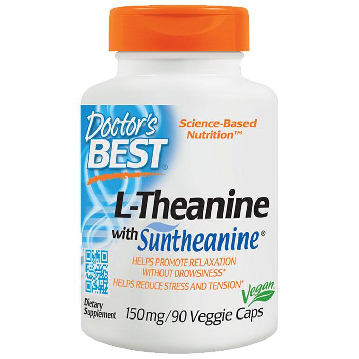 Suntheanine L-Theanine, 150 mg, 90 Veggie Caps, Doctors Best
