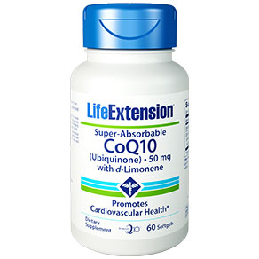 Super-Absorbable CoQ10 Ubiquinone with d-Limonene 50 mg, 60 Softgels, Life Extension