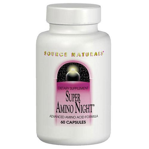 Super Amino Night, Advanced Amino Acid, 60 Capsules, Source Naturals