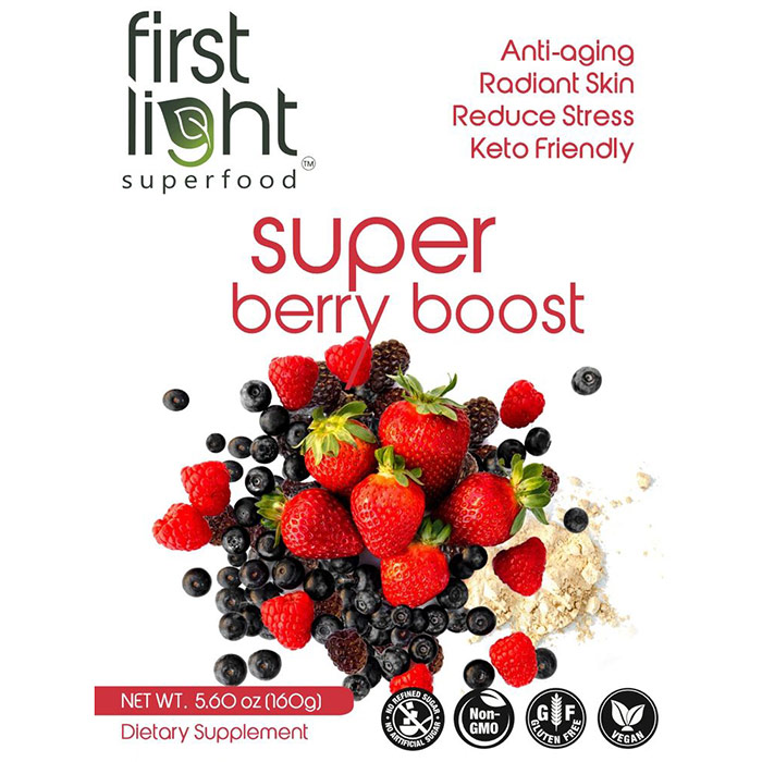 Super Berry Boost, High Energy Breakfast & Snack, 5.6 oz, First Light Superfood