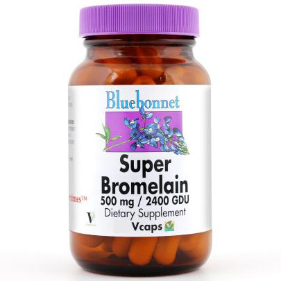 Super Bromelain 500 mg, 30 Vcaps, Bluebonnet Nutrition