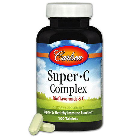 Super-C-Complex, Vitamin C Complex, 100 tablets, Carlson Labs