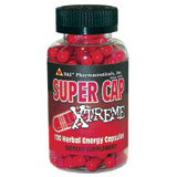 Super Cap Xtreme Ephedra Free Natural Energy Pill, 100 Caps from D&E