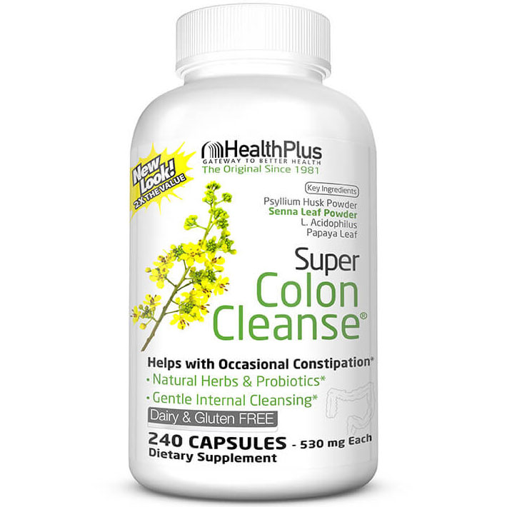 Super Colon Cleanse (Colon Cleansing) 240 caps from Health Plus Health Fitness Skin Care Beauty Supply Deals