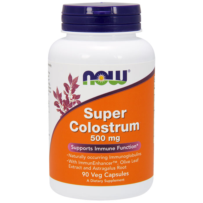 Super Colostrum 500mg 90 Vcaps, NOW Foods