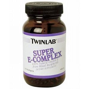 Super E Complex 400 IU Vitamin E 100 softgels from Twinlab  (Vitamins Supplements - Vitamin E)