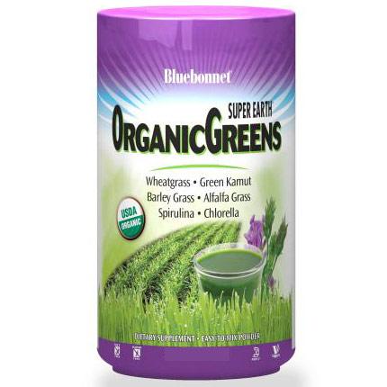 Super Earth Organic Greens Powder, 7.4 oz (210 g), Bluebonnet Nutrition