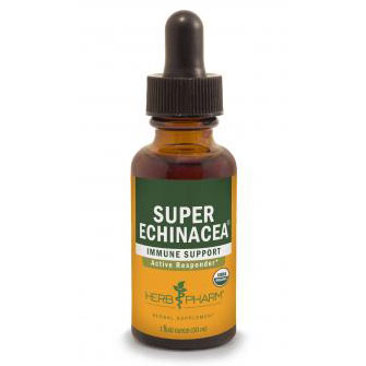 Super Echinacea Extract Liquid, 4 oz, Herb Pharm