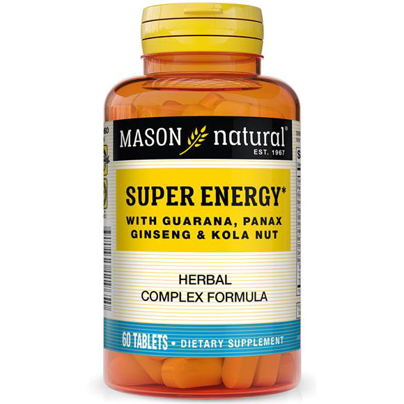 Super Energy Herbal Complex, 60 Tablets, Mason Natural