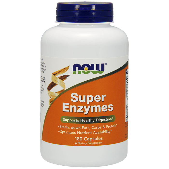 Super Enzymes Caps, 180 Capsules, NOW Foods