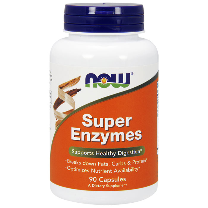 Super Enzymes Caps, 90 Capsules, NOW Foods