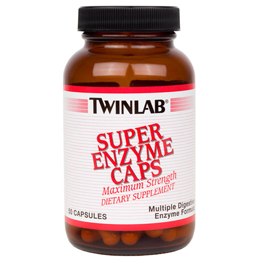Super Enzyme Caps, Multiple Digestive Enzymes, 50 Capsules, TwinLab