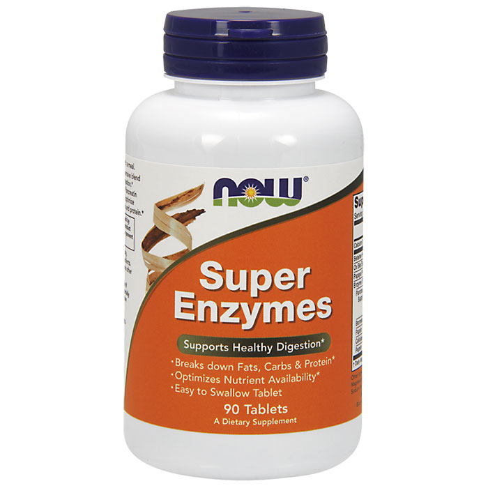 Super Enzymes Tabs, 90 Tablets, NOW Foods
