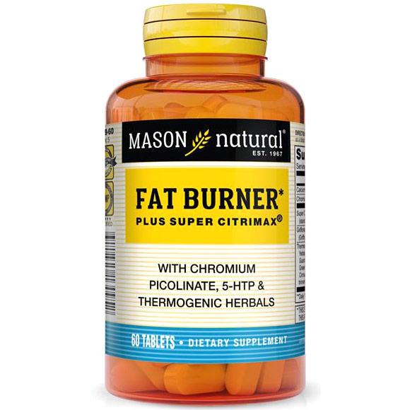 Super Fat Burner Plus Super Citrimax, 60 Tablets, Mason Natural