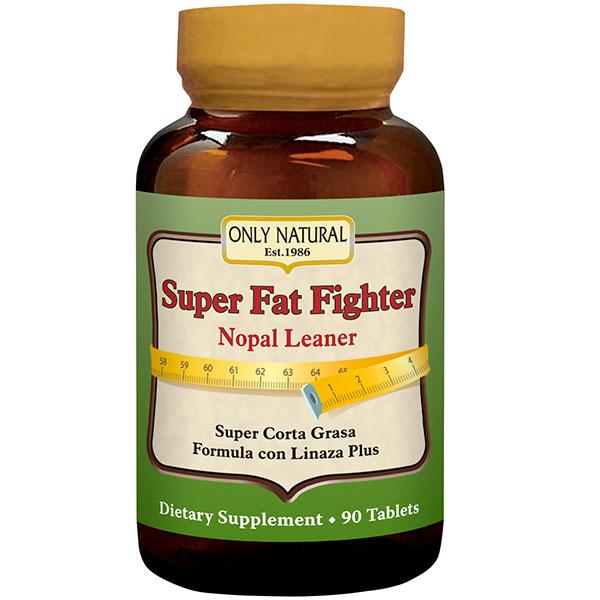 Super Fat Fighter Nopal Leaner Formula, 90 Tablets, Only Natural Inc.