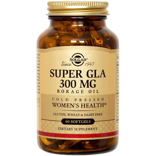 Super GLA 300 mg, Borage Oil, 60 Softgels, Solgar