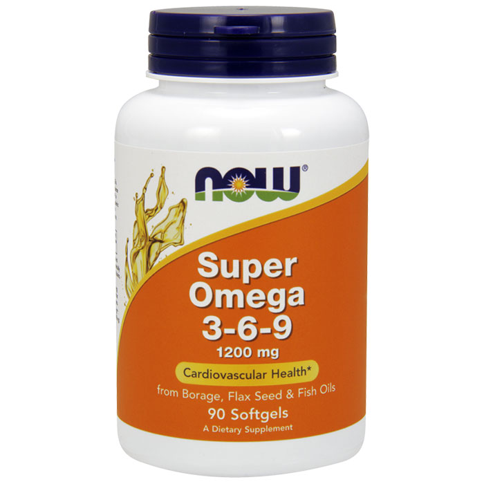 Super Omega 3-6-9 1200mg 90 Gels, NOW Foods