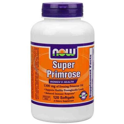 Super Primrose 1300mg 120 Softgels, NOW Foods