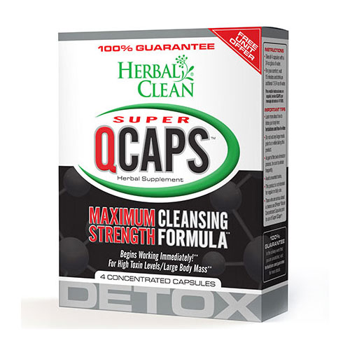 Super QCaps (Quick Caps), 4 Capsules, Herbal Clean Detox