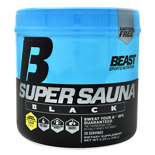 Super Sauna Black, Metabolism Boost, 150 g (30 Servings), Beast Sports Nutrition