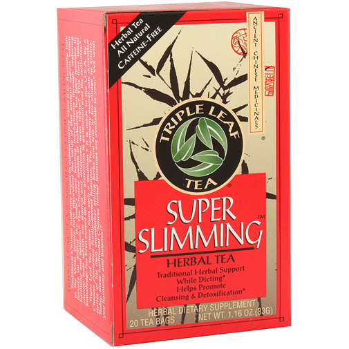Super Slimming Herbal Tea, 20 Tea Bags x 6 Box, Triple Leaf Tea