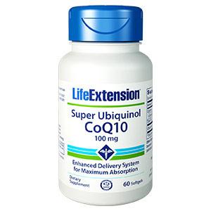 Super Ubiquinol Coq10 100 mg, 60 Softgels, Life Extension