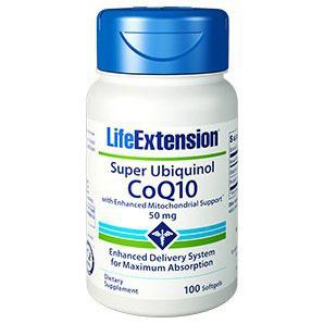 Super Ubiquinol CoQ10 50 mg Enhanced, 100 Softgels, Life Extension