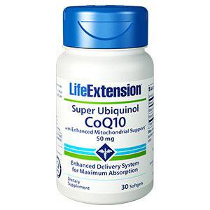 Super Ubiquinol CoQ10 50 mg with Enhanced Mitochondrial Support, 30 Softgels, Life Extension