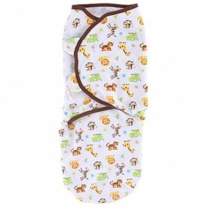 SwaddleMe Cotton Adjustable Infant Wrap Blanket, Small/Medium, Graphic Jungle, Summer Infant
