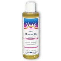 Sweet Almond Oil, 8 oz, Heritage Products