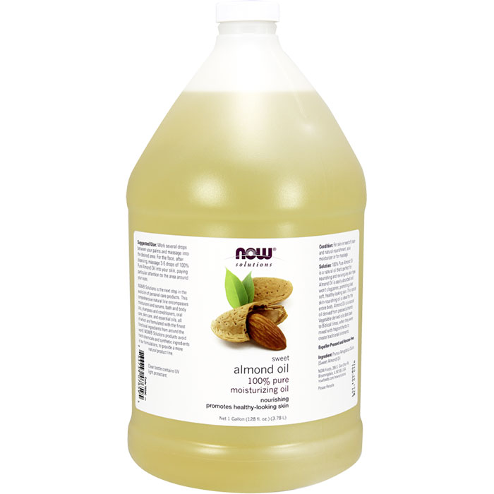 Sweet Almond Oil Skin Care, 1 Gallon, NOW Foods