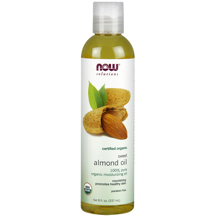 Sweet Almond Oil 100% Pure, Organic, 8 oz, NOW Foods