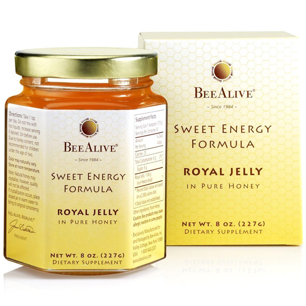 BeeAlive Sweet Energy Formula, Royal Jelly in Pure Honey, 8 oz, Bee Alive