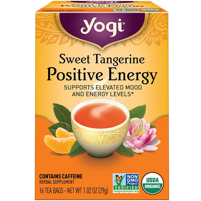 Sweet Tangerine Positive Energy Tea, 16 Tea Bags, Yogi Tea