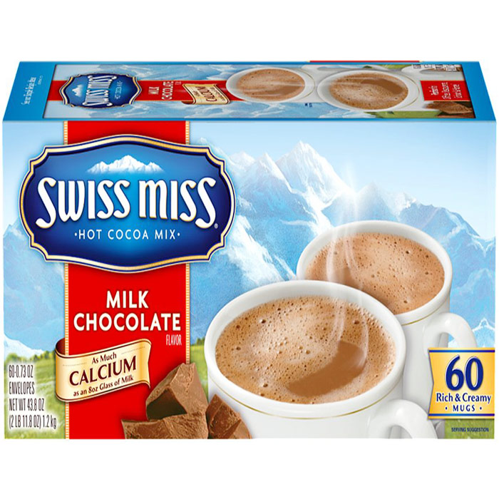Swiss Miss Hot Cocoa Mix, Milk Chocolate Flavor, 60 Packs