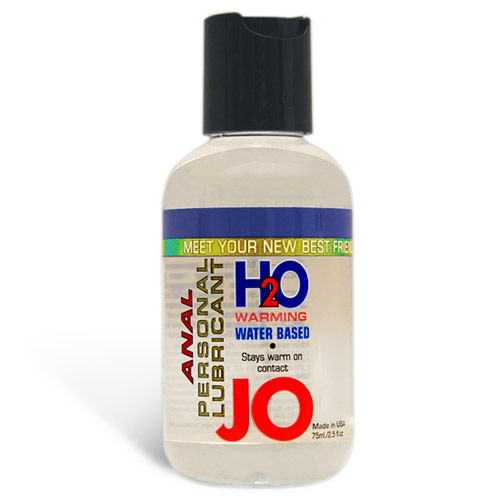JO Anal H2O Warming Personal Lubricant, Water Based, 2.5 oz, System JO