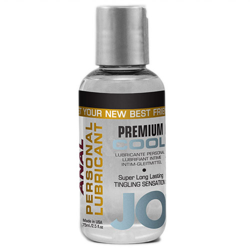 JO Anal Premium Cool Personal Lubricant, Silicone Based, 2.5 oz, System JO