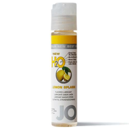 JO H2O Flavored Lubricant, Water Based, Lemon Splash, 1 oz, System JO