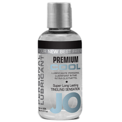 JO Premium Cool Personal Lubricant, Silicone Based, 4.5 oz, System JO