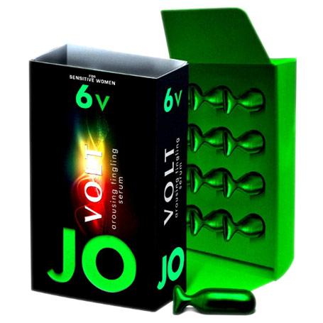 JO Volt 6V Arousing Tingling Serum for Sensitive Women, 12 Units, System JO
