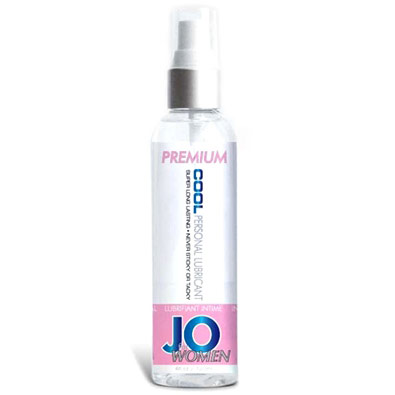 JO Women Premium Cool Personal Lubricant, Silicone Based, 4 oz, System JO