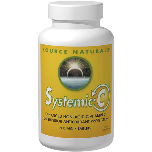 Systemic C 1000 mg Tab, 100 Tablets, Source Naturals (Vitamins Supplements - Vitamin C)