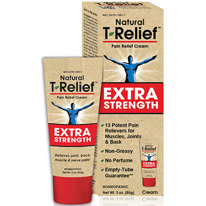 T-Relief Extra Strength Cream, Pain Relief, 3 oz, MediNatura