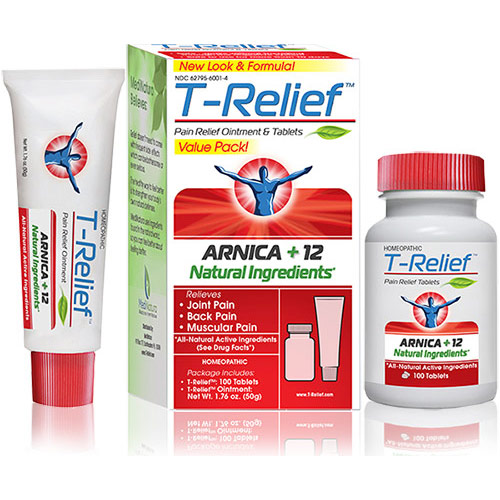 T-Relief Pain Relief Ointment & Tablets Value Pack, 1 Kit, MediNatura