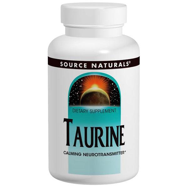 Taurine 1000 mg Caps, 120 Capsules, Source Naturals