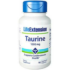 Taurine 1000 mg, 90 Vegetarian Capsules, Life Extension